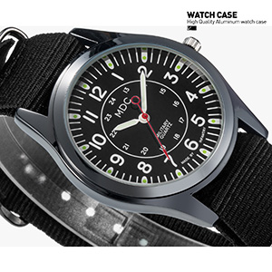 Military Watches For Men Tactical Wrist Watch Army Field Outdoor Sport Black Mens Wristwatch Nato