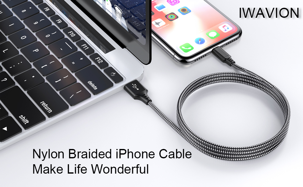 iwavion nylon braided iphone cable make life wonderful