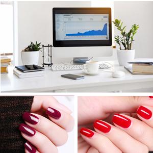 red gel nail polish