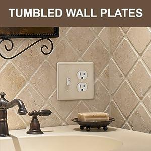 Tumbled Wall Plates