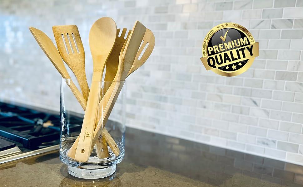 bamboo cooking spatulas