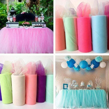 Tulle fabric event decorations