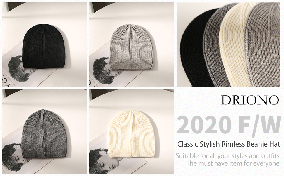 DRIONO brimless beanie for man and woman