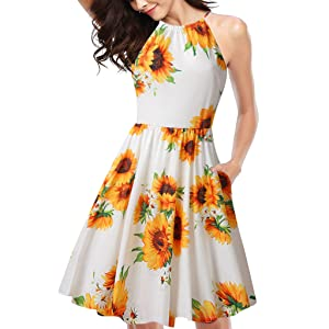 Lelili Valentines Day Women Summer V-Neck Short Sleeve Floral Print Beach Party Casual Dress