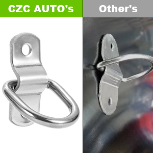 Made of forged iron with full zinc plated to prevent rust and offers a capacity of 400 lbs