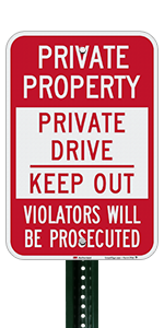 Private Drive Keep Out
