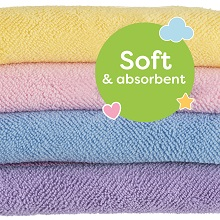 wet newborns microfibres pack kids small multipack towels hand rainbow kit new water