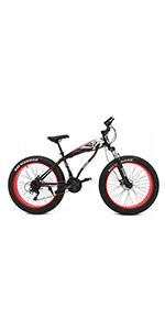 26 inch fat tire snow bike