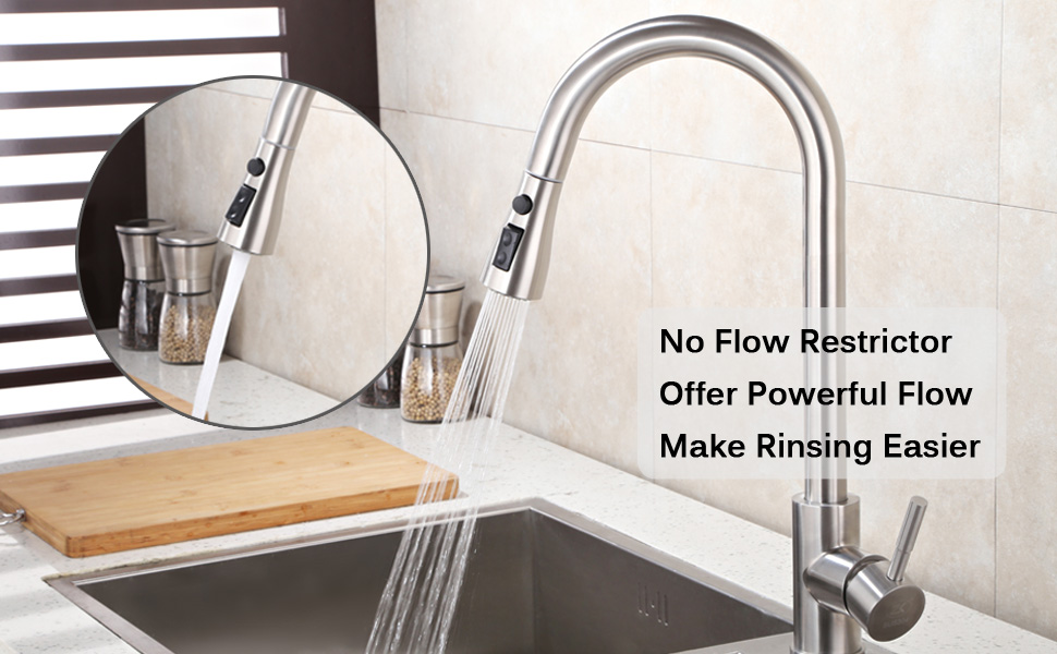 kitchen faucet head with powerful flow