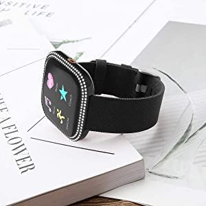 fitbit versa 2 bands with case