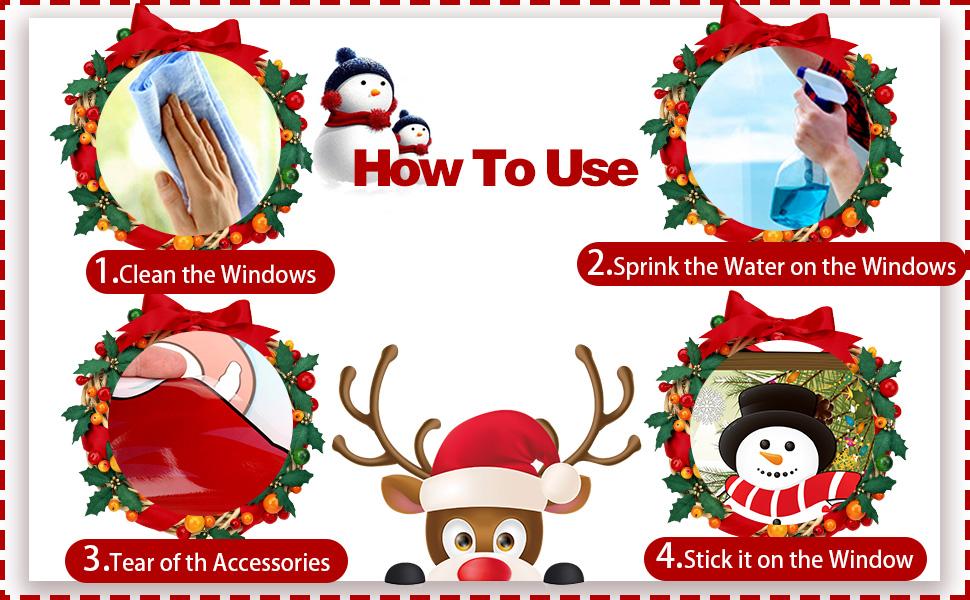 xmas window stickers