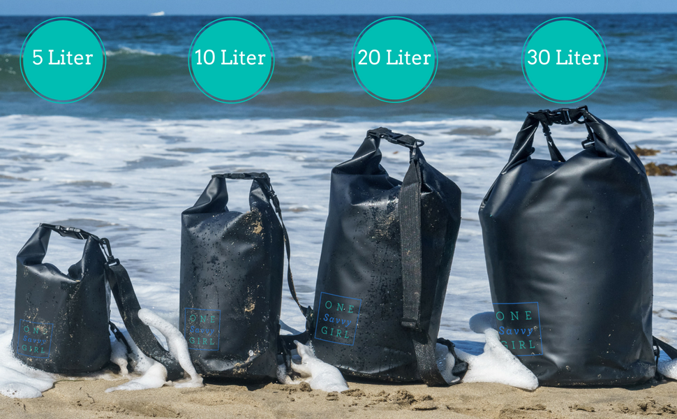 dry bag waterproof sizes colors