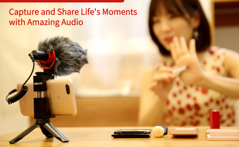 """capture and share life""""s moments with amazing audio"""