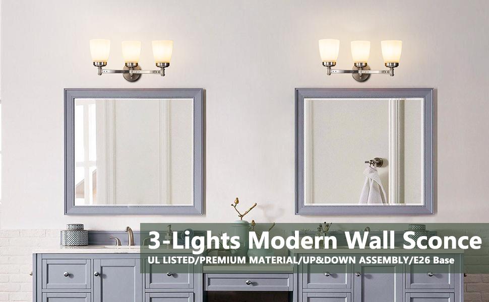 3 lights Modern Bathroom Vanity Light