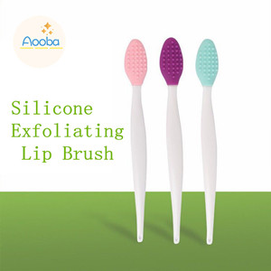 Amazon Com 6pcs Lip Brushes Double Sided Silicone Exfoliating