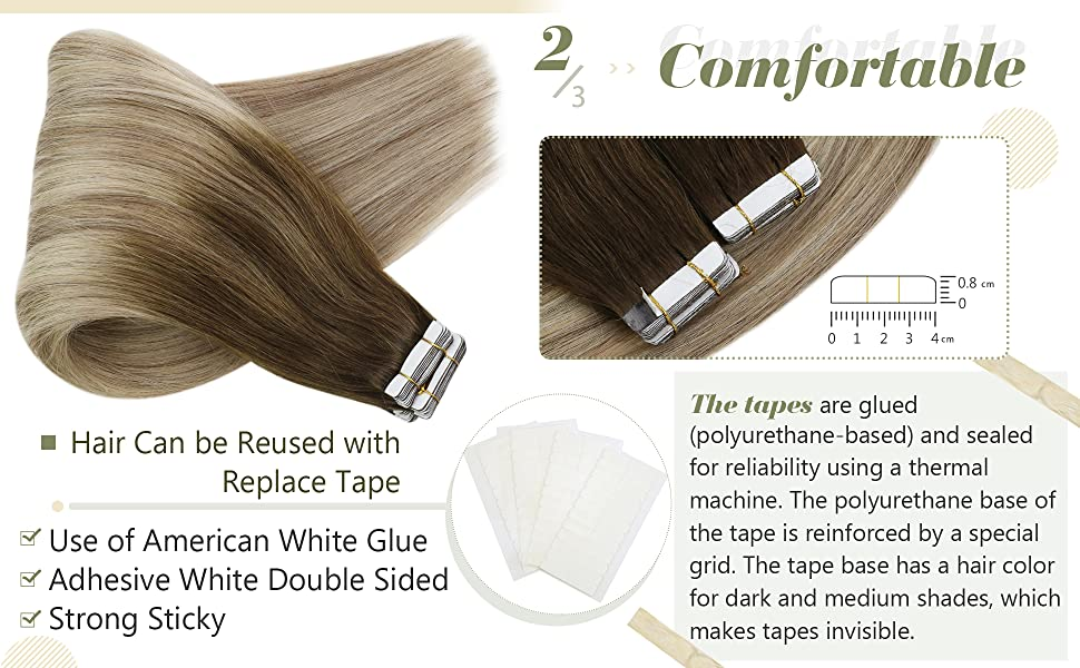 Tape in Balayage Hair Extensions Human Hair