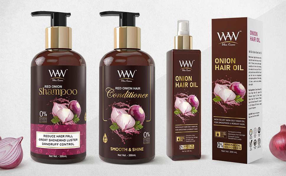 Red Onion Shampoo, Conditioner And Hair Oil
