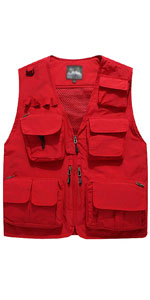 Men's Casual Multi-Pocket Outdoor Utility Fishing Photo Safari Work Travel Vest