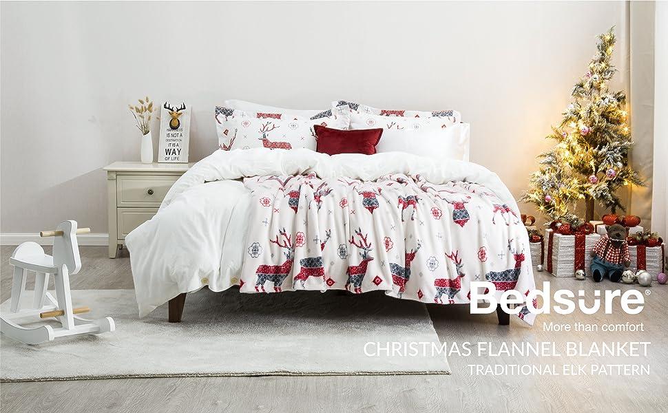 Bedsure Christmas Flannel Fleece Blanket