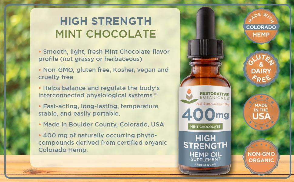 High Strength 400 mg Mint Chocolate