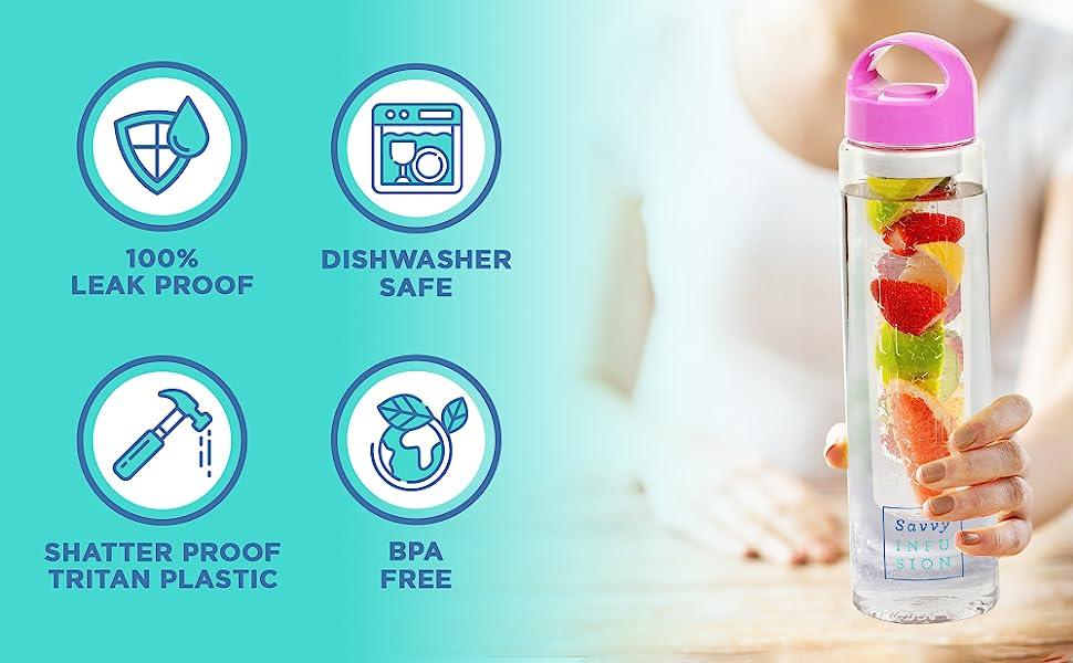 infuser top flip yoga glass premium fitness hot cold sports juicer press juice maker gifts fun