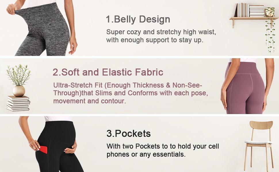 Capris Pregnancy Leggings with Pockets