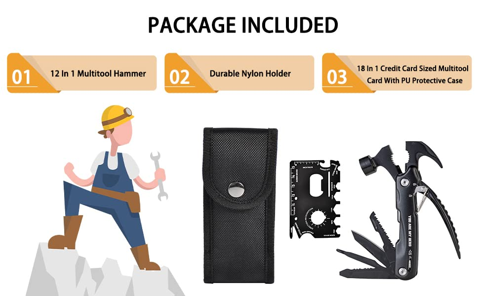 Package includes Credit Card Sized Multitool
