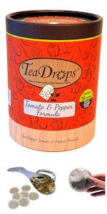 TeaDrops Liquid Tomato Pepper Eggplant Organic Plant Food Fertilizer Worm Castings Tea Packets