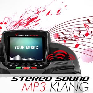 pantalla de cinta de correr con musica