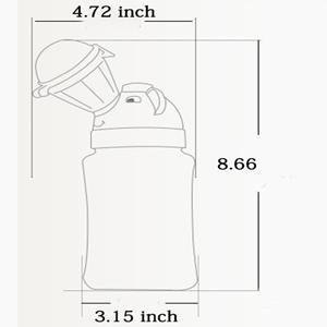 Yeliu Orinal port/átil Inodoro para Coche Botella Plegable para beb/é Azul Orinal de Viaje para Acampar