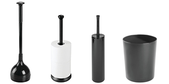 Plunger Toilet Tissue Paper Reserve Canister Dispenser Bowl Brush Clean Cleaning Deep Mini Compact