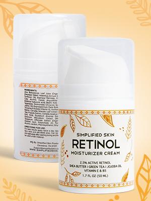 Two bottles of Simplified Skin Retinol Cream