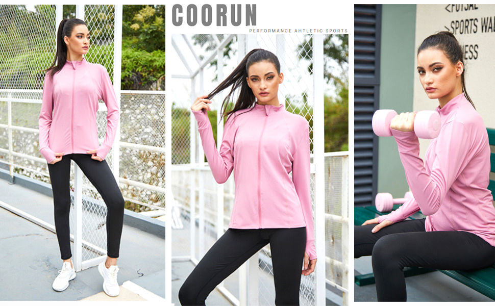 Womens Workout Track Jacket