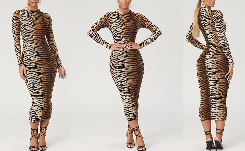 Long sleeve sexy dress