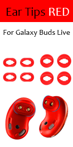 galaxy buds live ear tips red