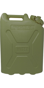 Green Military Water Can