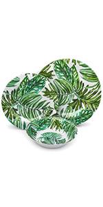 melamine dinnerware set home decor kitchen camper dishware plastic plate reusable bowls dishes dish