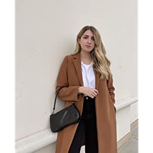 beige shoulder bag women