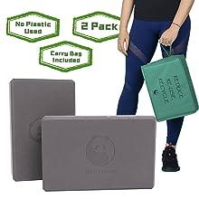 grey yoga blocks