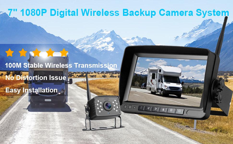 digital wireless backup camera