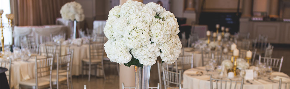 fake silk hydrangea flowers artificial wedding white flower for table centerpiece