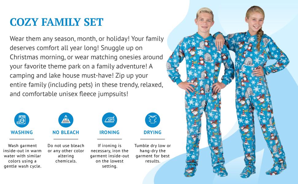 Footed Pajamas, Family Matching Onesies, Footie Pajamas Onesie Sleepwear, Cozy Family Set