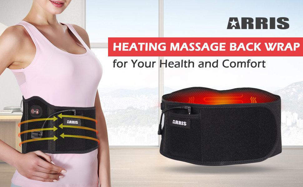heating vibration back wrap