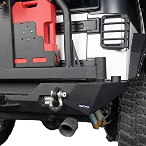 Jeep JK Rear Bumper with Tire Carrier : D-Rings with Isolators and extra led lights are included