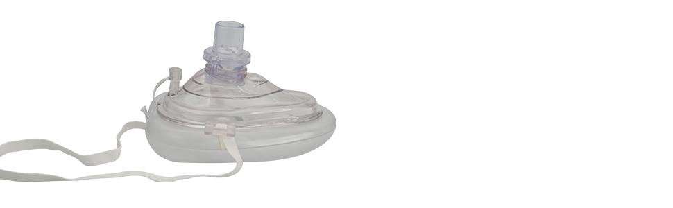Pocket CPR Medical Rescue Resuscitator Mask with Hard Plastic Case