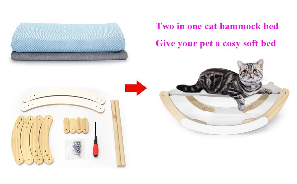cat hammock bed for indoor cats
