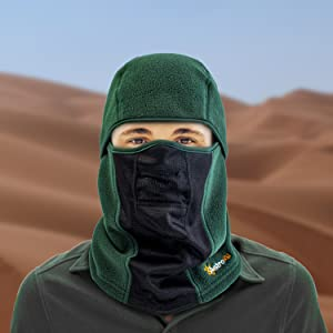 Wind-Resistant Face Mask/& Neck Gaiter,Balaclava Ski Masks,Breathable Tactical Hood,Windproof Face Warmer for Running,Motorcycling,Hiking-Halloween Masquerade Small Black