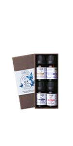 OZRO R&R Essential oils set lavender, geranium, clary sage and frankincense