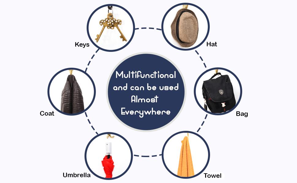 multipurpose hang coat, key, umbrella, towel and clothes