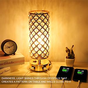 crystal desk light
